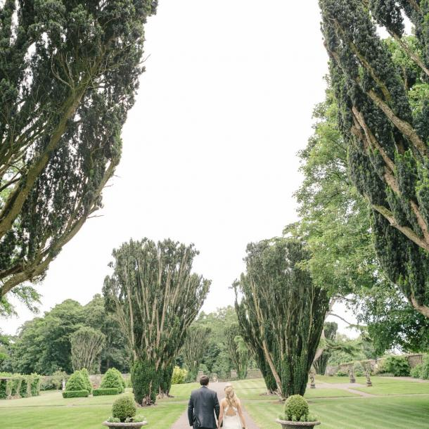 Tankardstown's formal walled garden provides the perfect backdrop for your wedding photos
