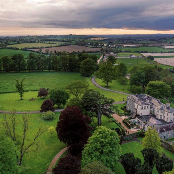 Tankardstown House in Slane, Co. Meath consists of an 18th Century Manor House, magnificent Orangery, Courtyard Cottage accommodation and a Garden Village where Dining takes place. All set on a private 80 acre estate in the heart of the beautiful Boyne Valley.