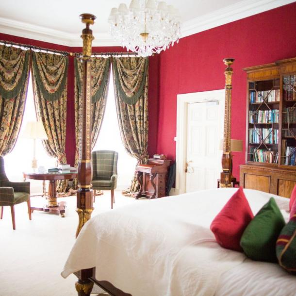 As it should be, the Library Suite is a beautiful quiet space, to relax and enjoy. Boasting a half tester bed, antique furnishings, large marble ensuite bathroom with freestanding bath, his & hers gilt washstands and double shower.