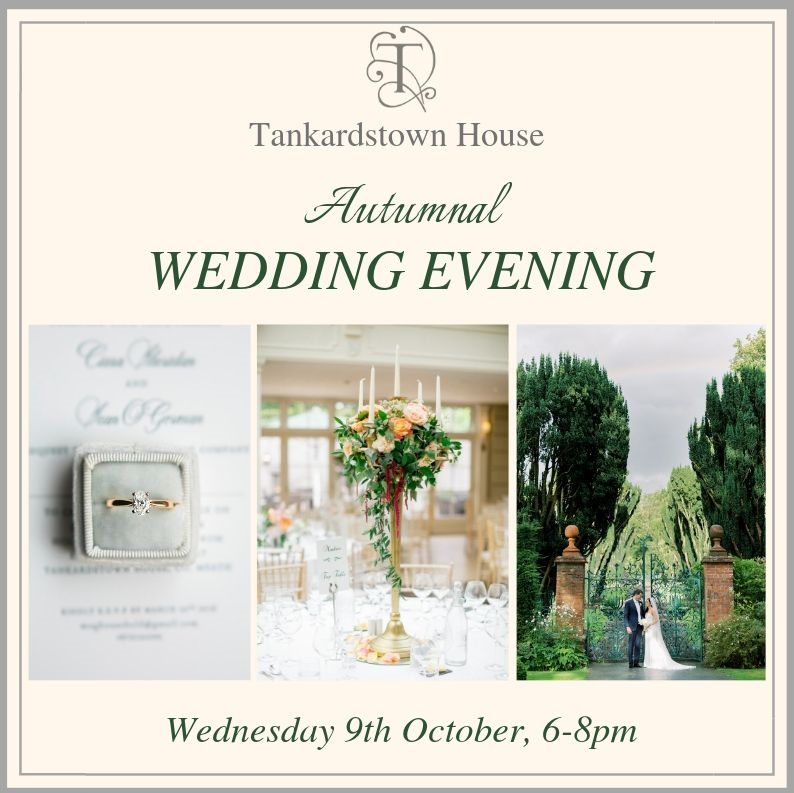 Tankardstown House Autumnal Wedding Evening, 9th October 2019